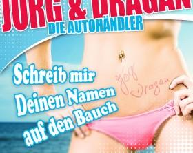 name auf den bauch Jörg und Dragan