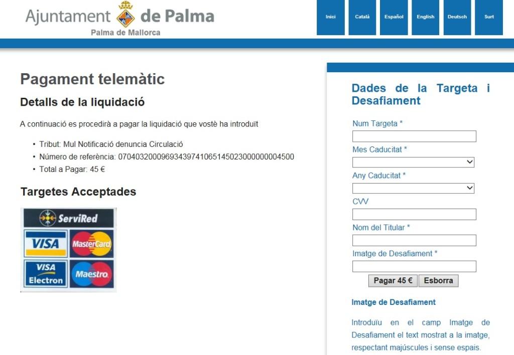 Strafzettel auf Mallorca bezahlen