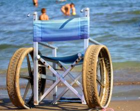 Plya de Palma Rollstuhl schwimmen